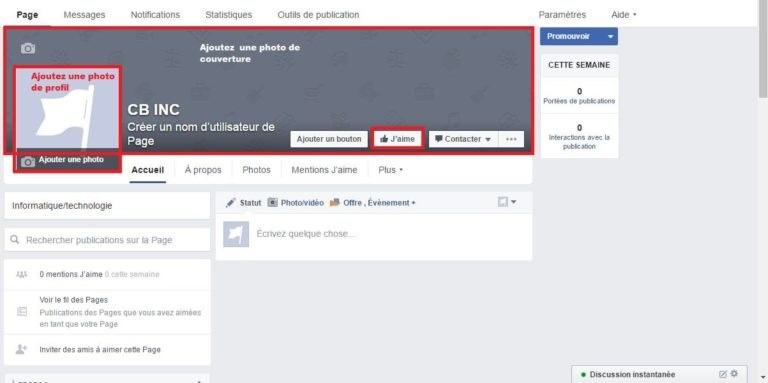 ajouter un logo a sa page facebook